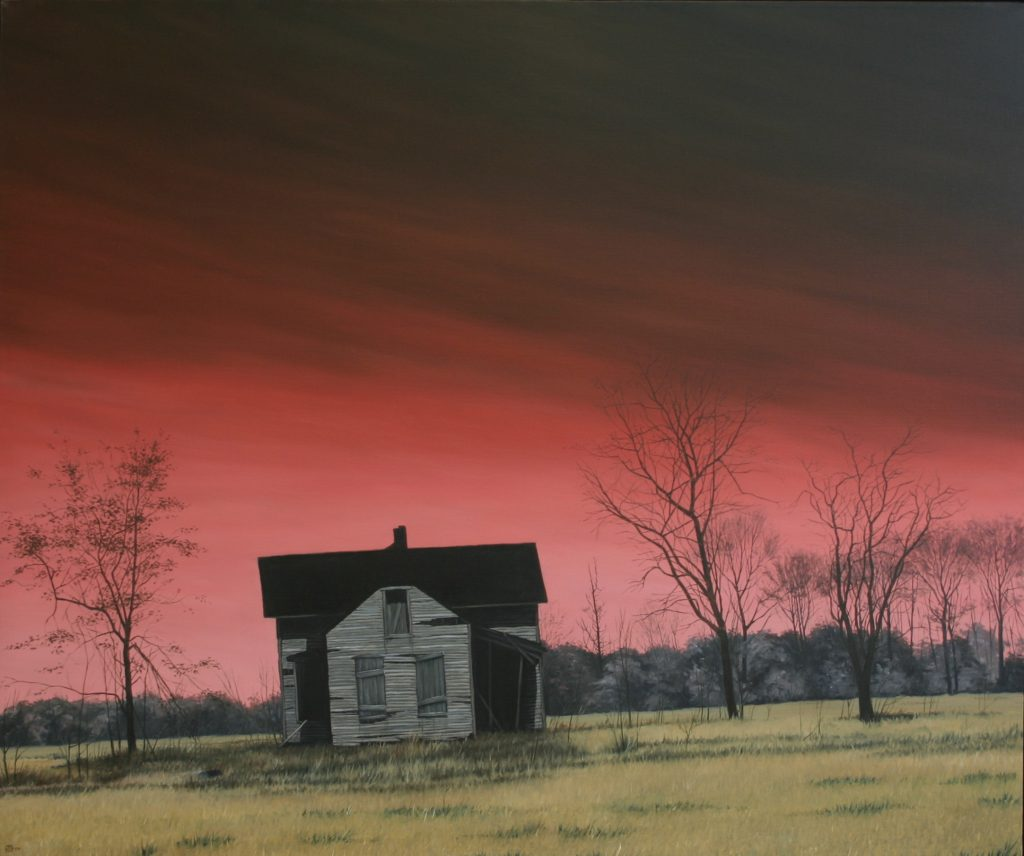 Burning Red Sky, Oil On Canvas, 100 X 120 cm