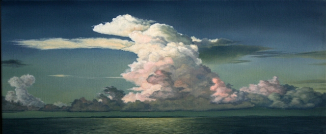 Clouds 2, Oil On Canvas, 75 x 200 cm