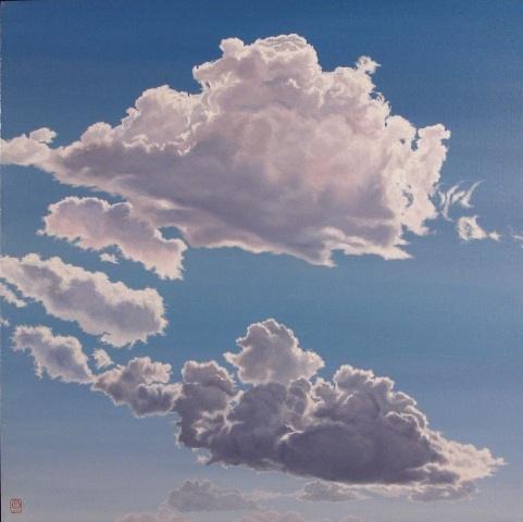 Helle's Clouds, Oil On Canvas, 110 x 110 cm