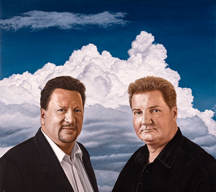 Jan Struve & Erik Skjærbæk, Olie på lærred, 80 x 100 cm
