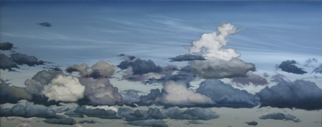Some Other Clouds, Oil On Canvas, 75 x 200 cm